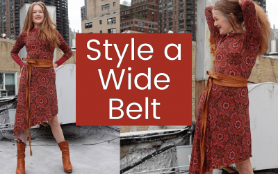 How Style a Wide Belt